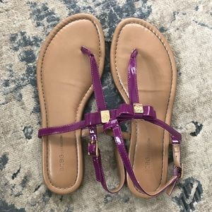 BCBGeneration Leather Patent Sandals